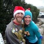 Race winners Joey Tetford and Judy Brufatto